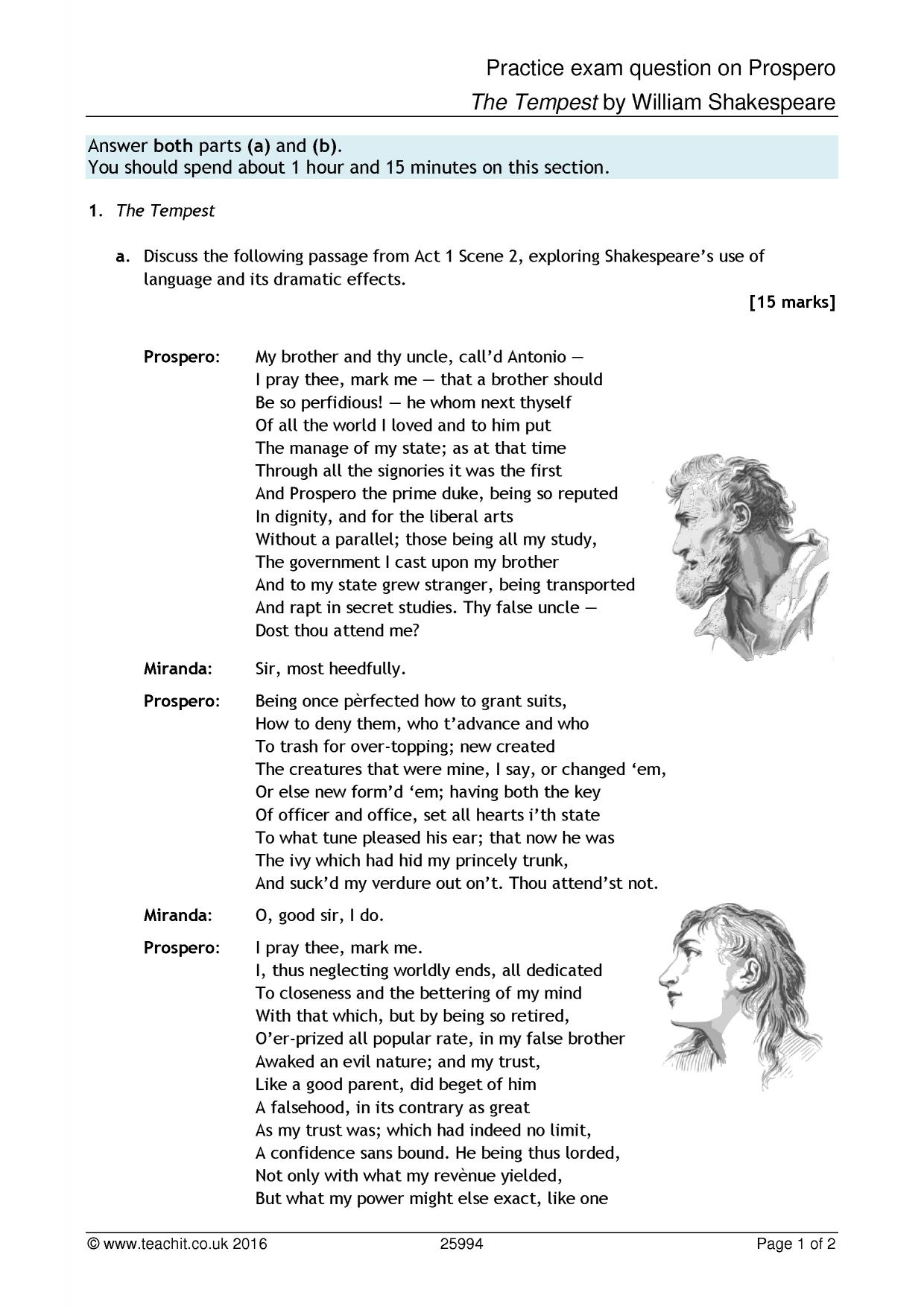 prospero character analysis Free essay: prospero, of course, is the play he is the exiled duke of milan and the father of miranda, as well as a powerful magician ruler of a remote.