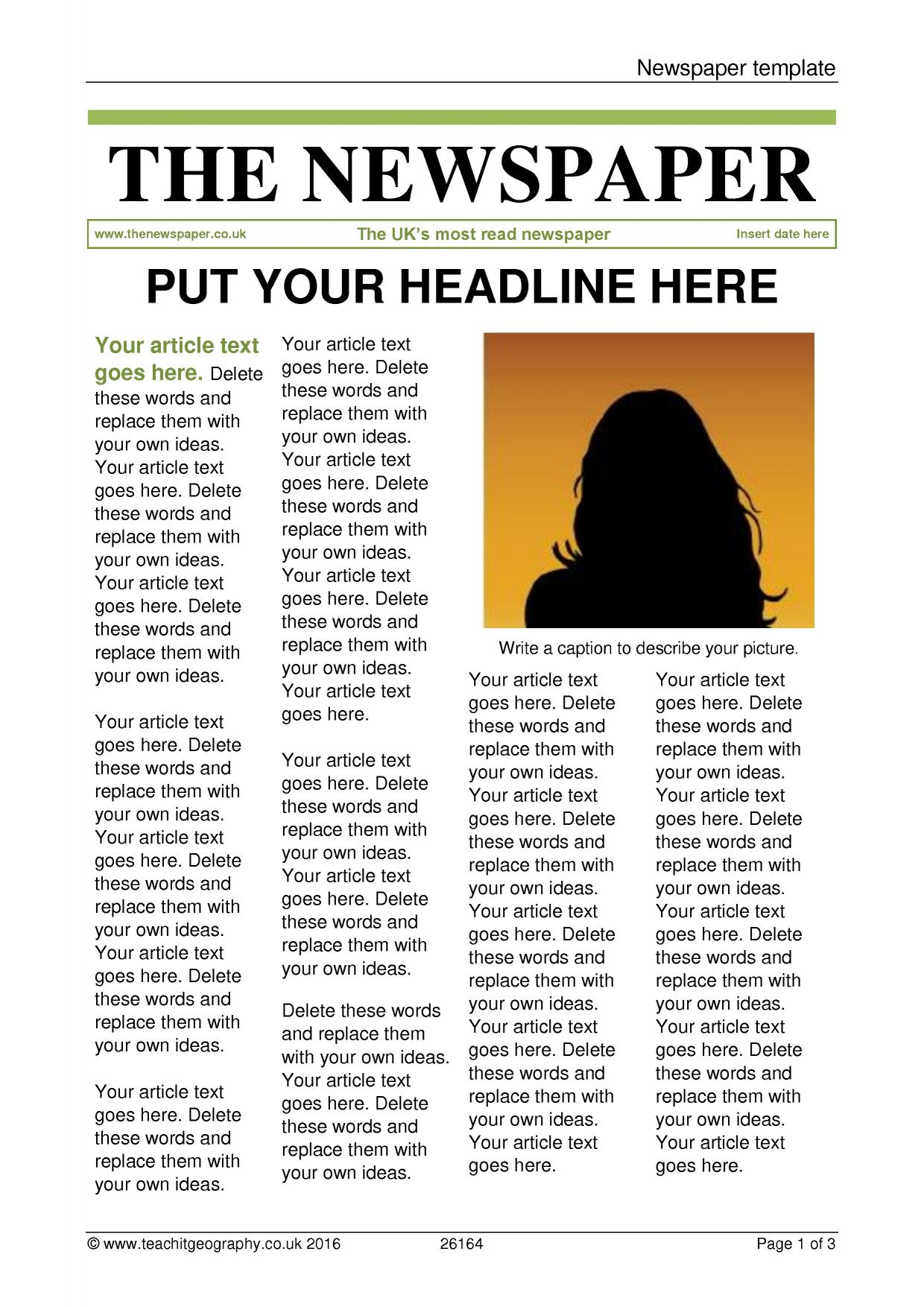 How to Write a Great Newspaper Article