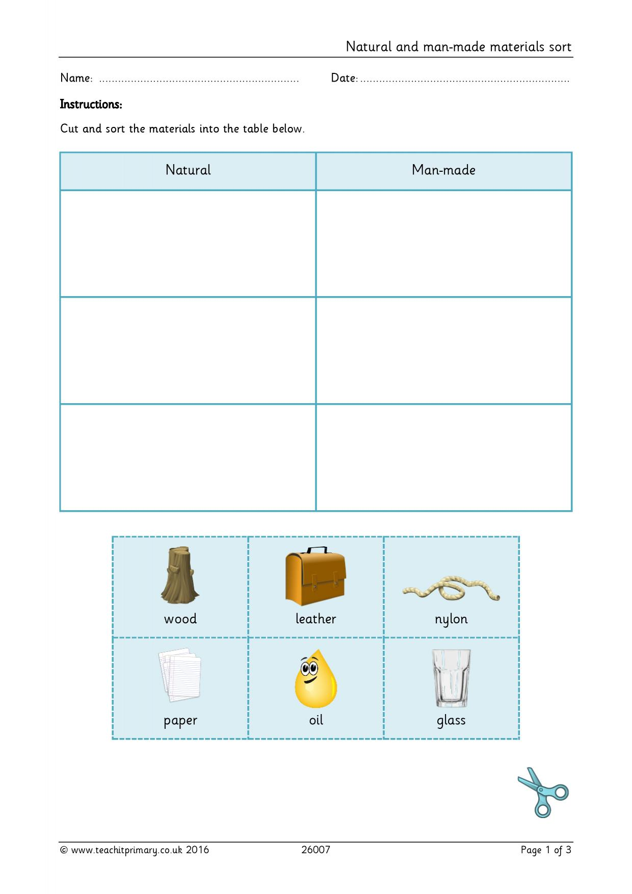 worksheet Changing Materials Ks1 Worksheets primary teaching resources for science materials teachit 1 preview