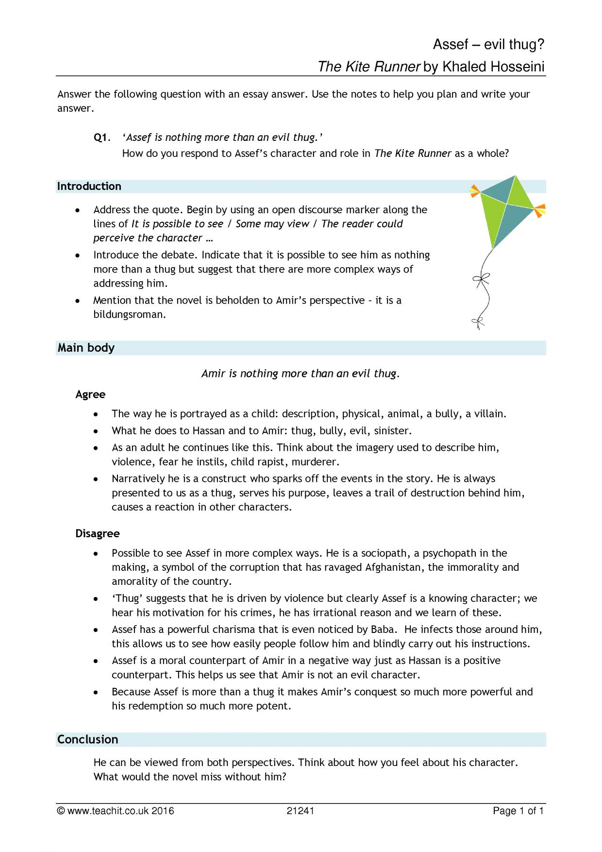 My Hobby Essay In English  Preview Essay In English Language also Essays On The Yellow Wallpaper Ks Prose  The Kite Runner By Khaled Hosseini  Teachit English Science Topics For Essays