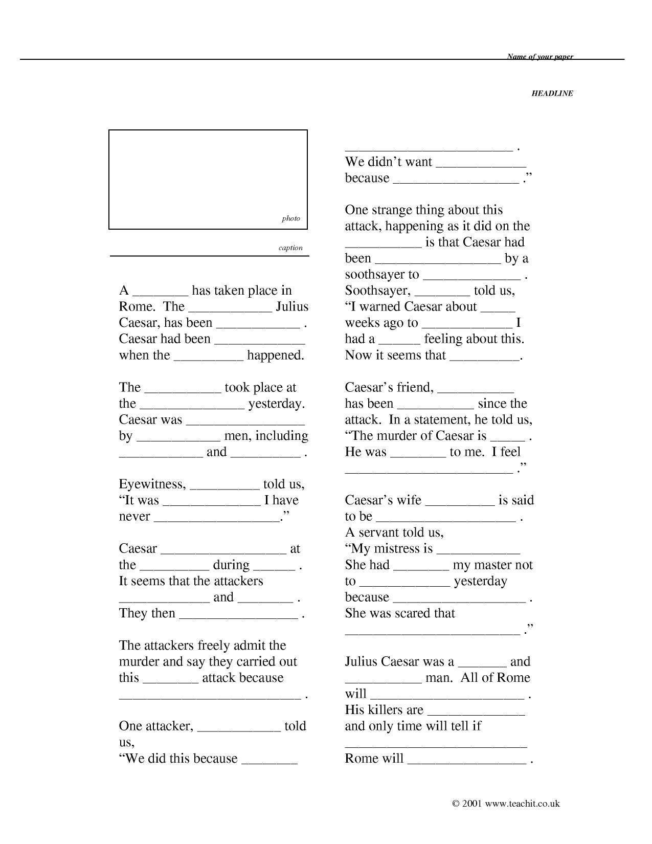 Worksheet Julius Caesar Worksheets Grass Fedjp Worksheet