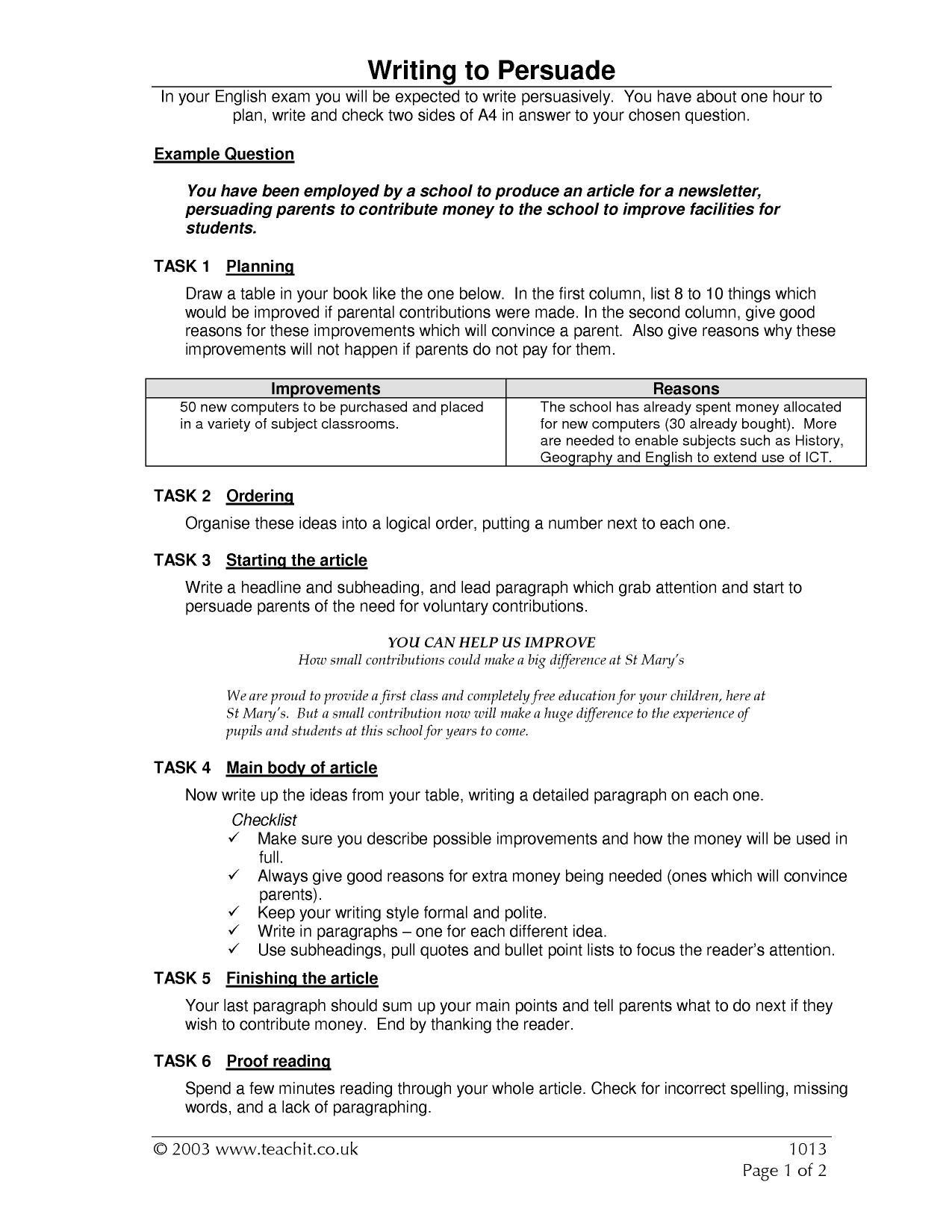 Ks4 writing argument and persuasive writing teachit english 4 preview spiritdancerdesigns Choice Image