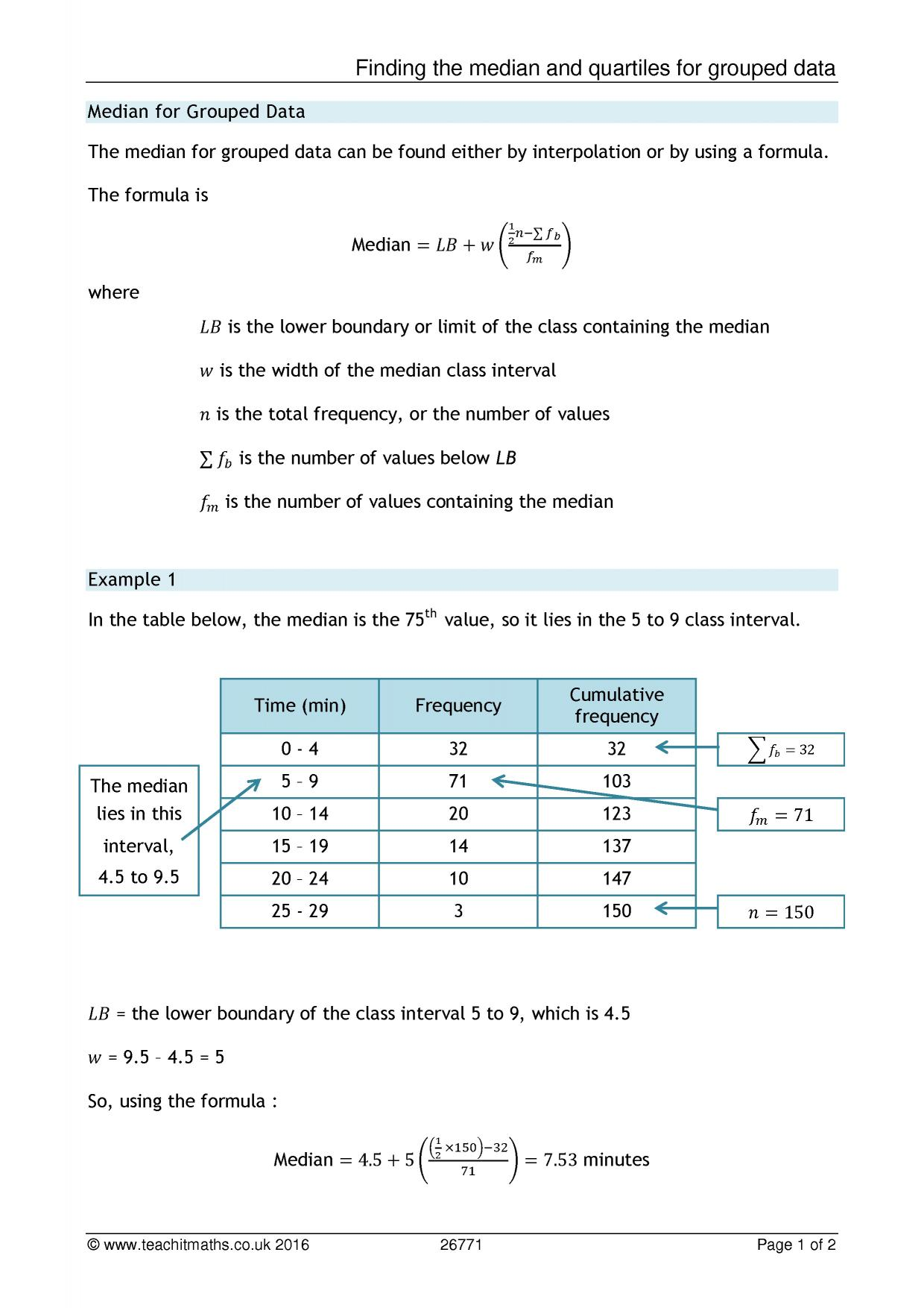 worksheet Measure Of Central Tendency Worksheet ks4 averages and spread mean median mode range teachit maths 1 preview
