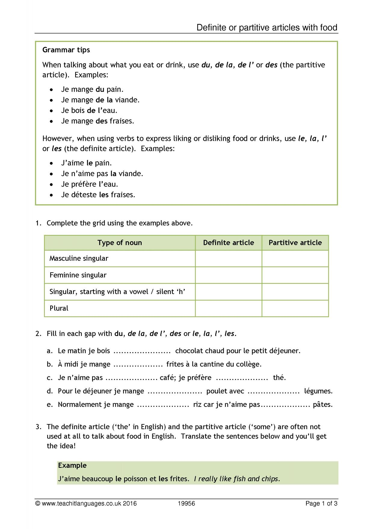 worksheet Food Label Worksheet teachit languages latest french teaching resources printable 1 preview