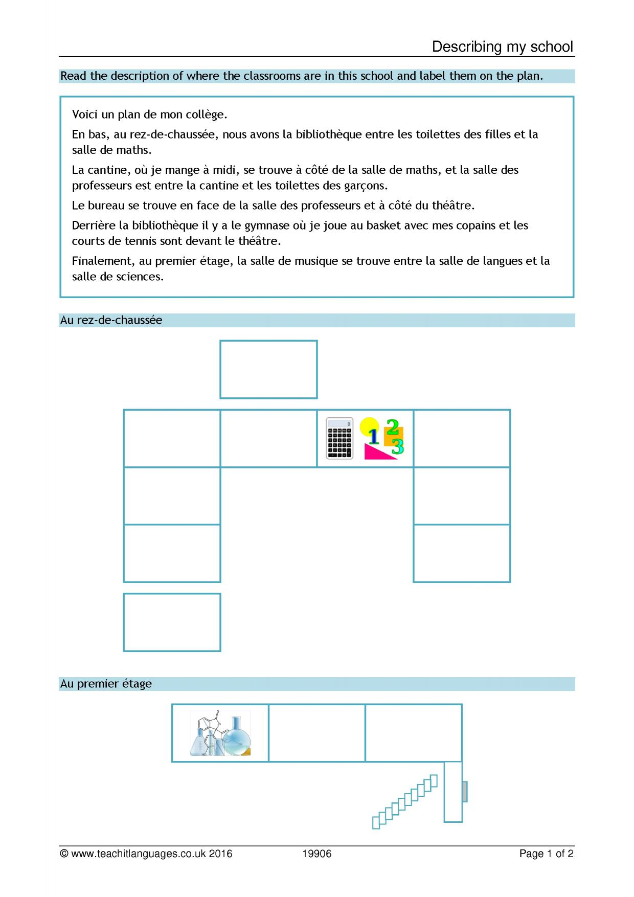 worksheet Consonant Le Worksheets teachit languages latest french teaching resources printable 1 preview