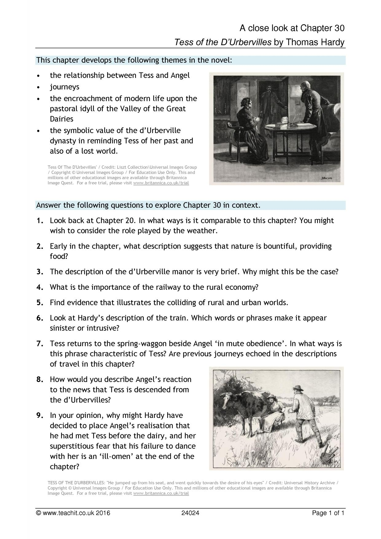 tess of the d urbervilles by thomas hardy ks4 resources all 0 preview