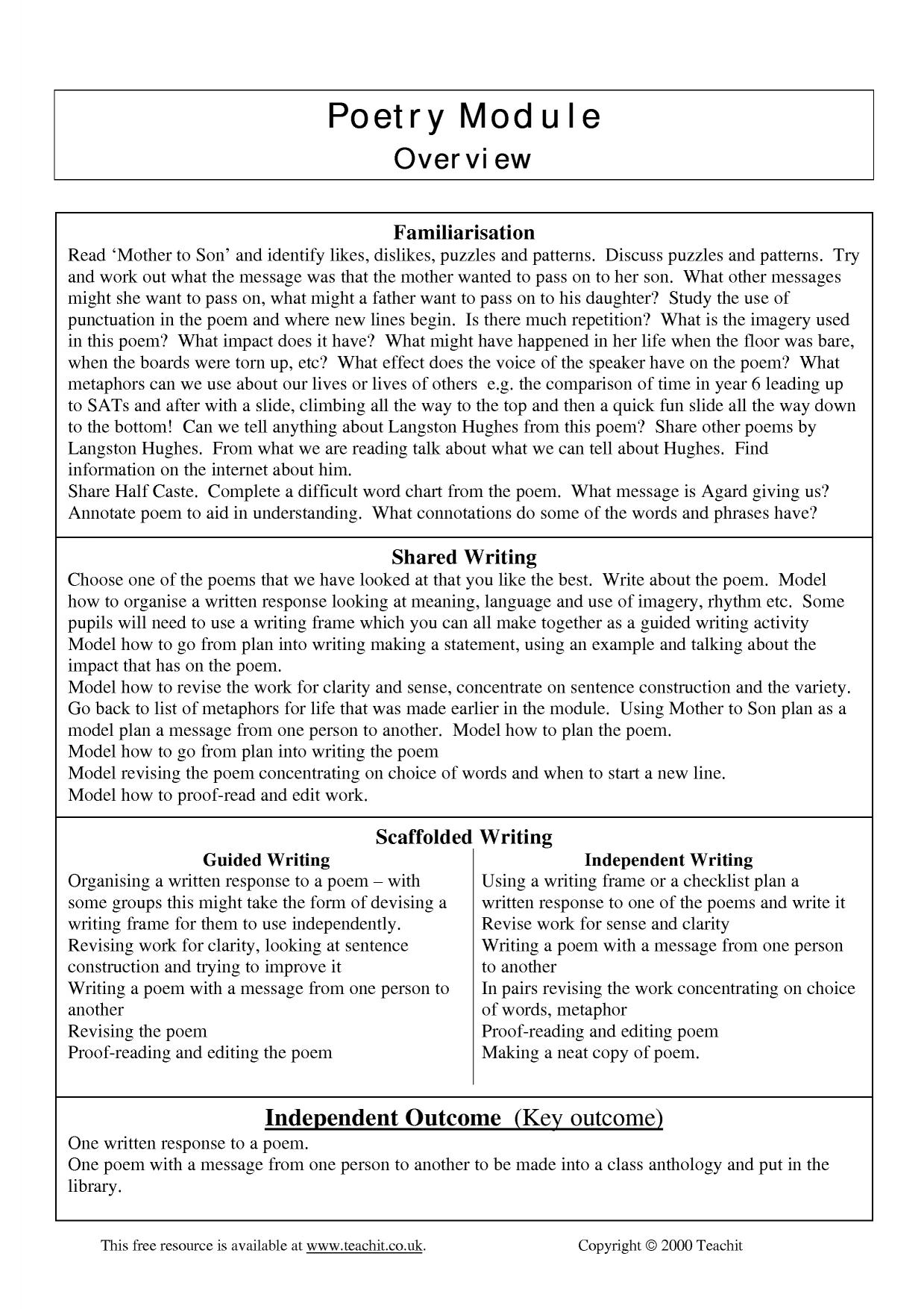 mother to son by langston hughes analysis essay