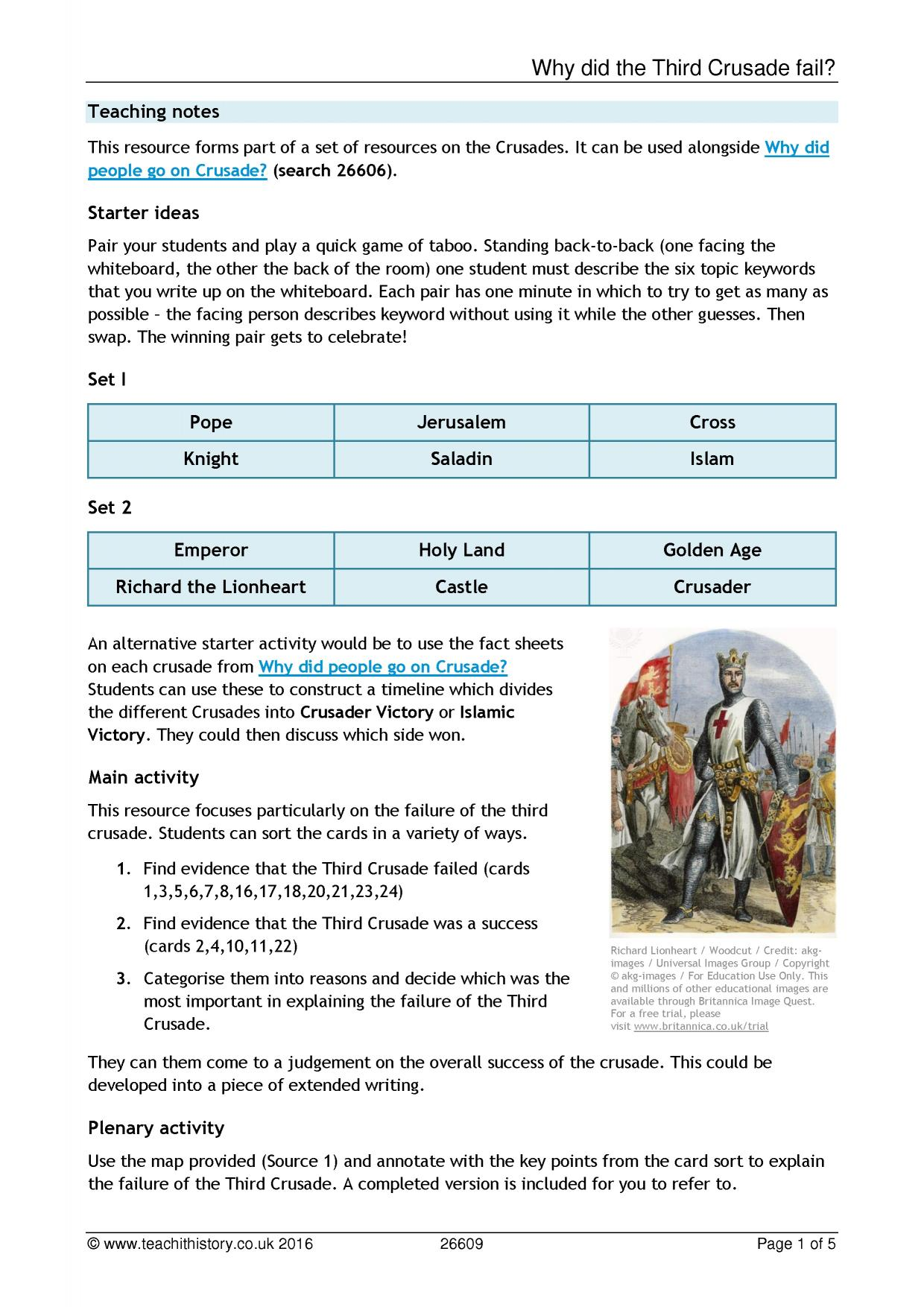 the crusades all ks resources key stage resources 0 preview