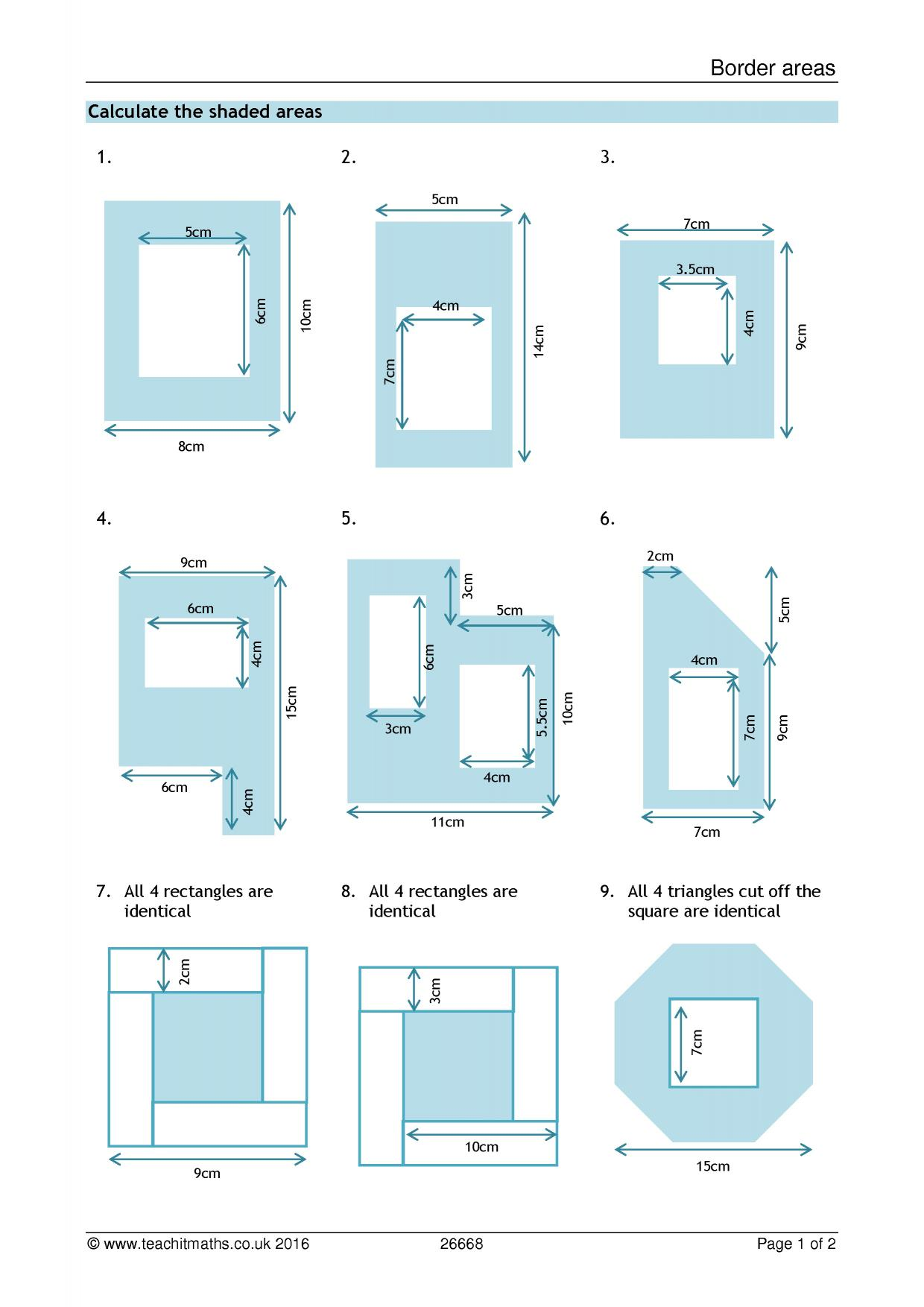 Uncategorized Area Of Compound Shapes Worksheet border areas calculating compound geometry and measure resource thumbnail