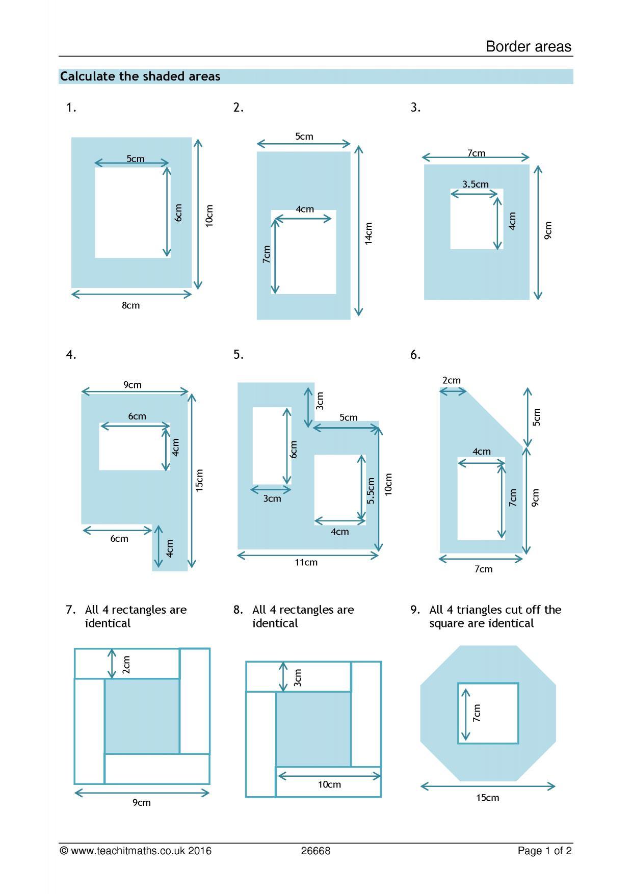 KS3 | Area and perimeter – compound shapes | Teachit Maths