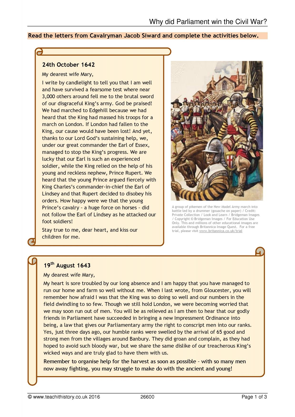 the english civil war early modern key stage  0 preview