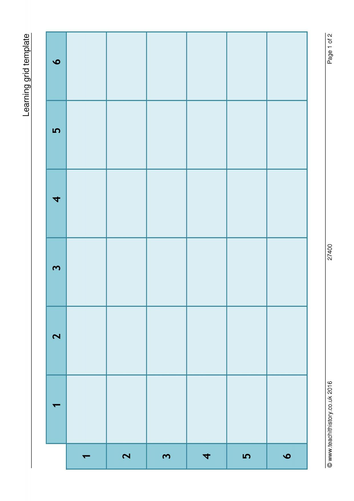 Learning grid template