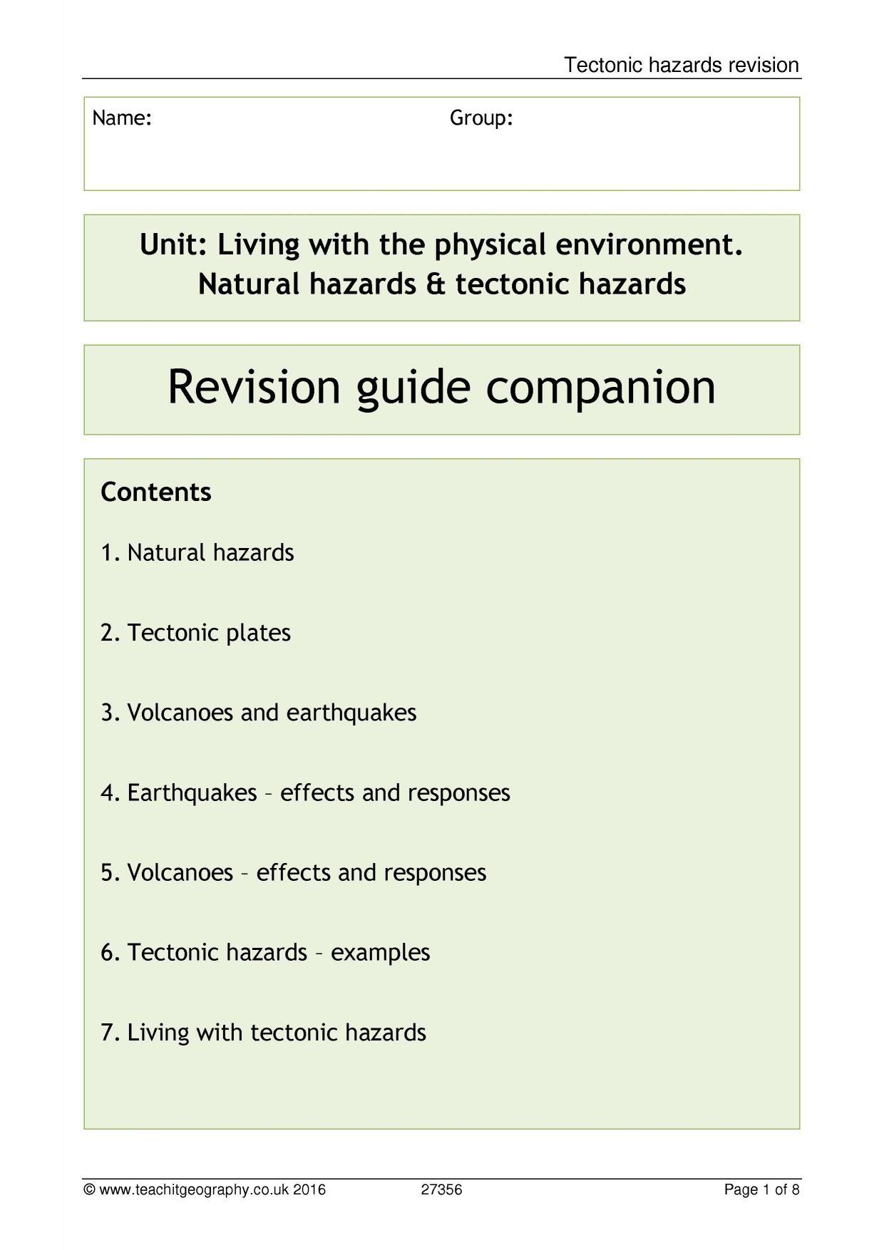 Volcanoes All KS4 resources Key stage 4 resources – Volcano Worksheets