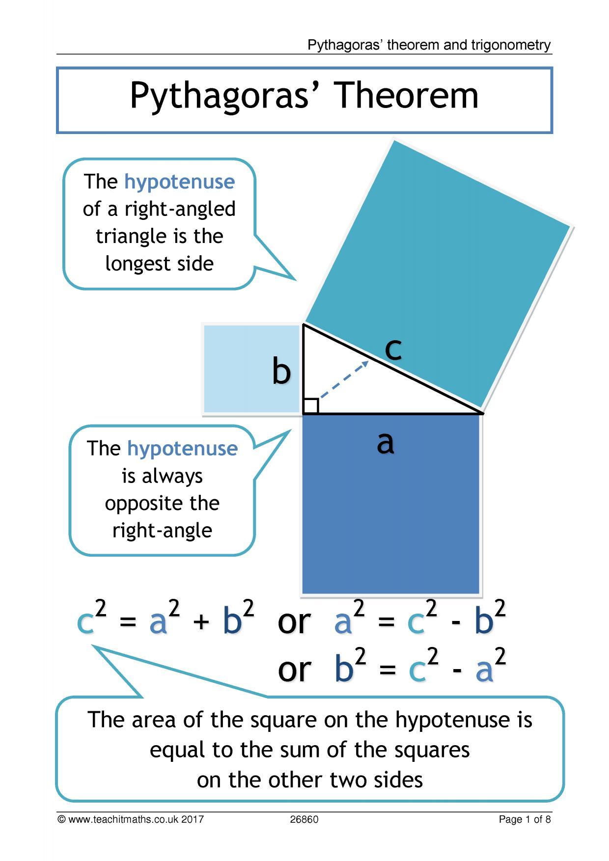 KS4 | Pythagoras\' theorem | Teachit Maths