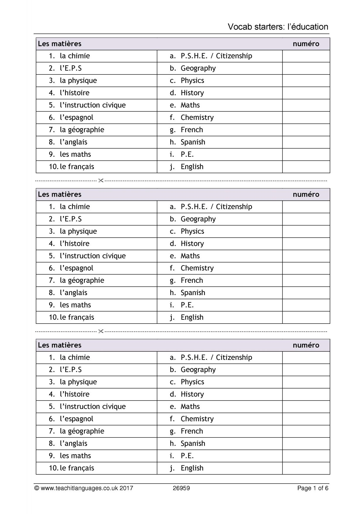 Worksheets Beginner French Worksheets latest french teaching resources printable worksheets and 1 preview