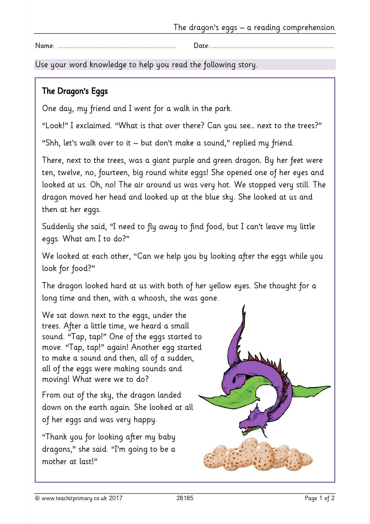 The Dragon S Eggs – A Reading Prehension