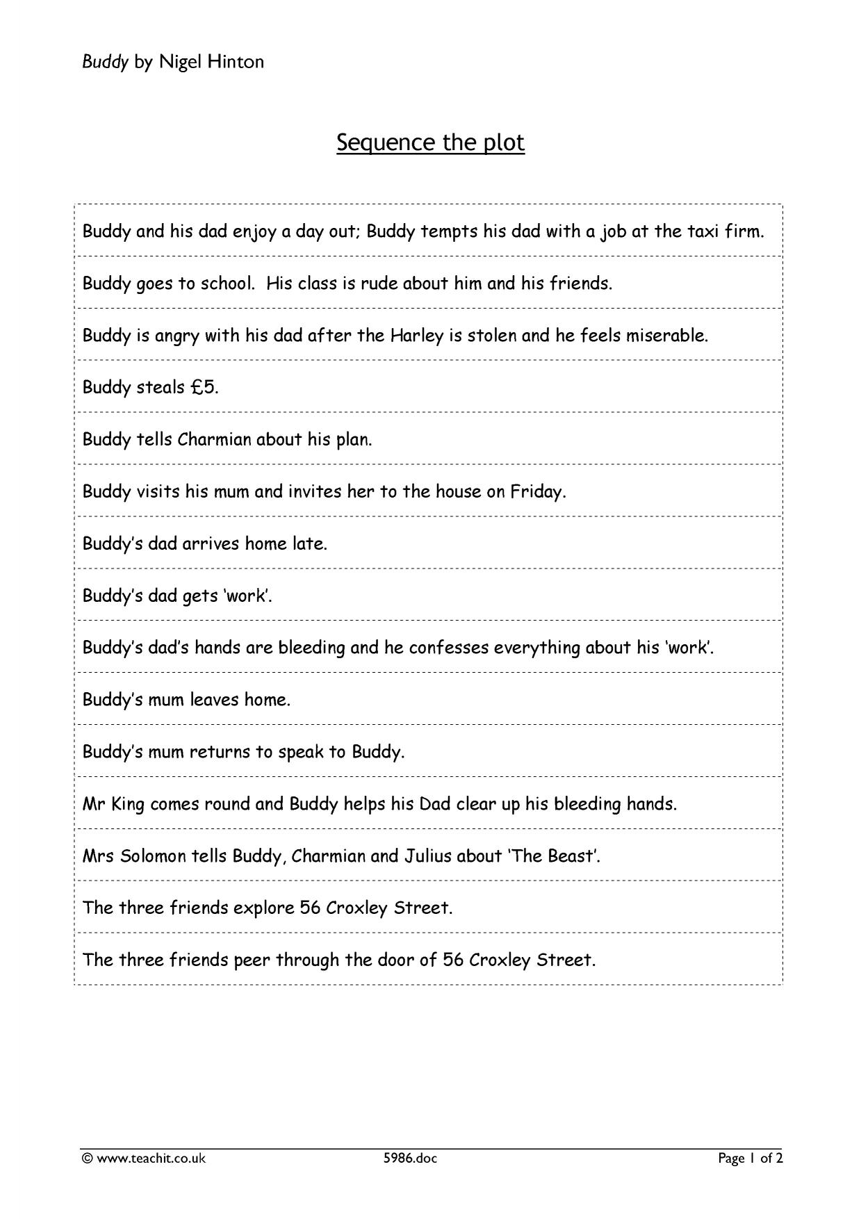 buddy by nigel hinton ks prose key stage resources 0 preview