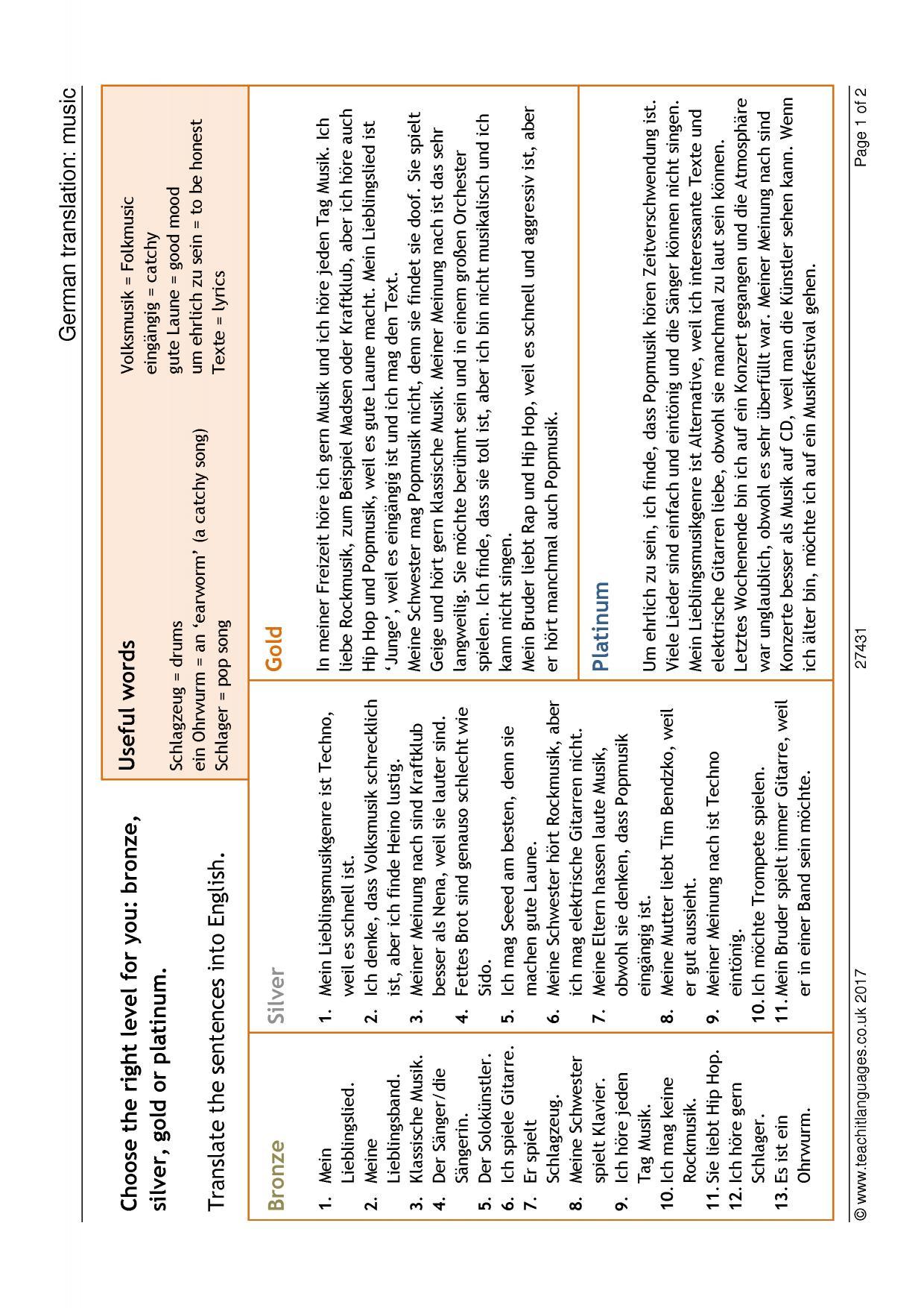 German Language Teaching Resources Teachit Languages