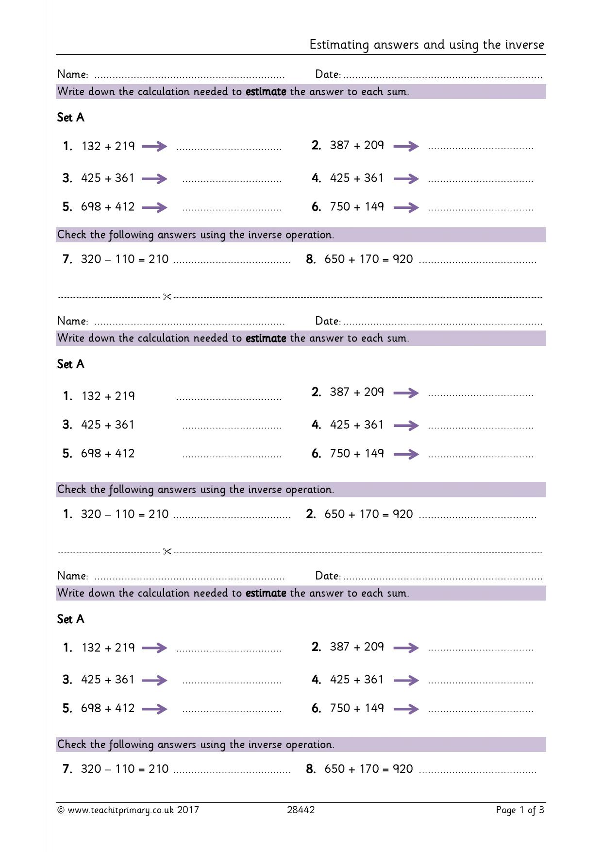 Addition and subtraction the basics Number Maths resources – Addition and Subtraction Worksheets Ks2
