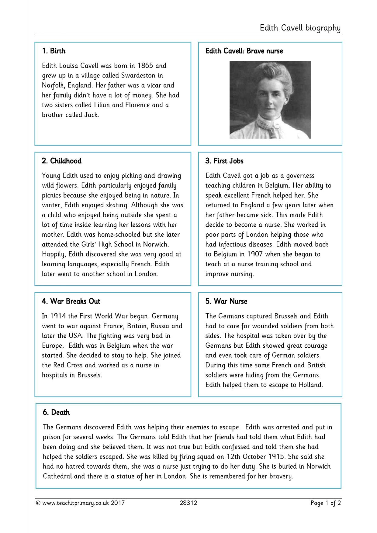 How to write a biographical essay