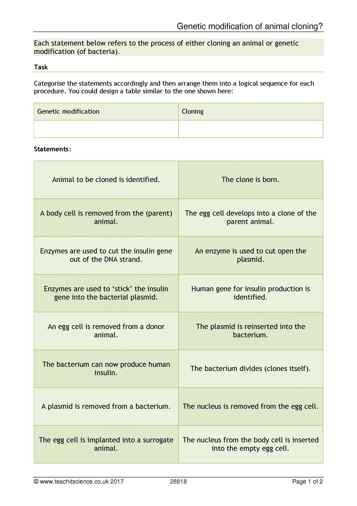 worksheet Genetics Matching Worksheet ks4 inheritance reproduction and evolution teachit science 0 preview