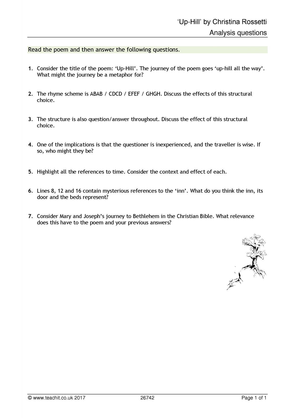 A Birthday- Christina Rossetti Essay