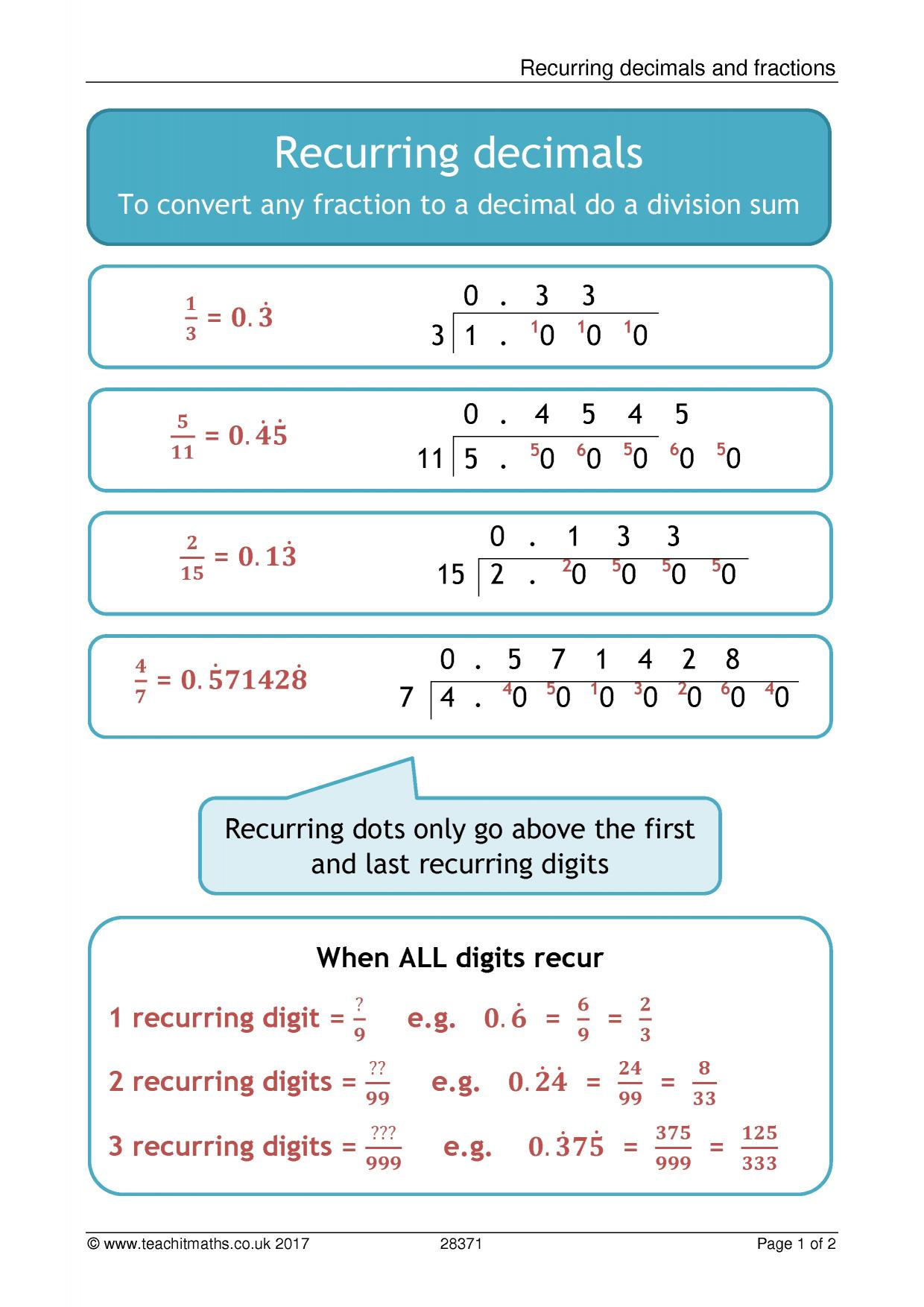 Number - Teachit Maths