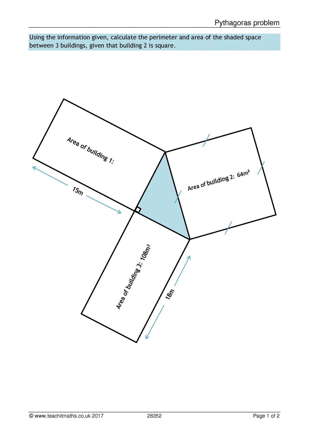 worksheet Perimeter Of Polygons Worksheet ks3 area and perimeter polygons teachit maths 1 preview