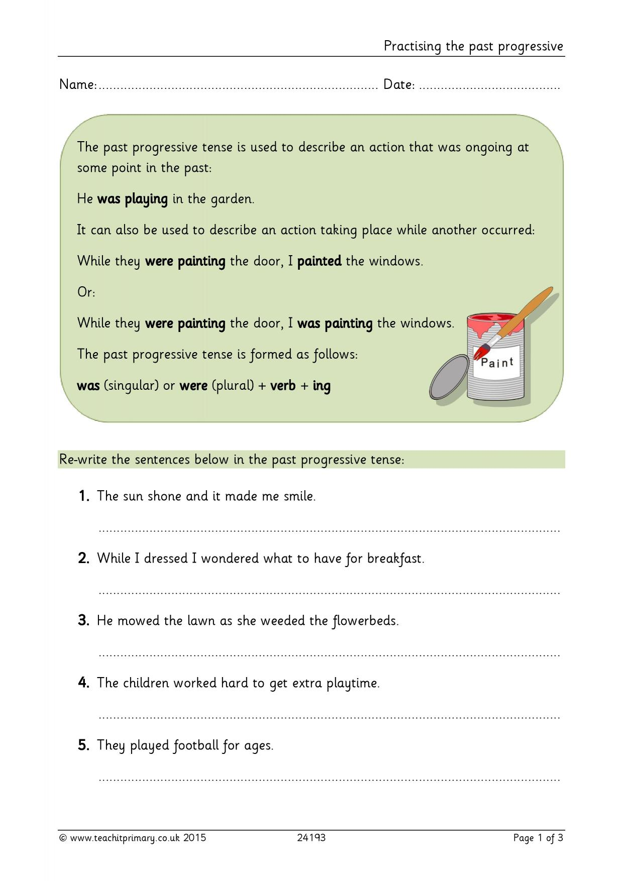 Ks2 Verb Tenses Teachit Primary