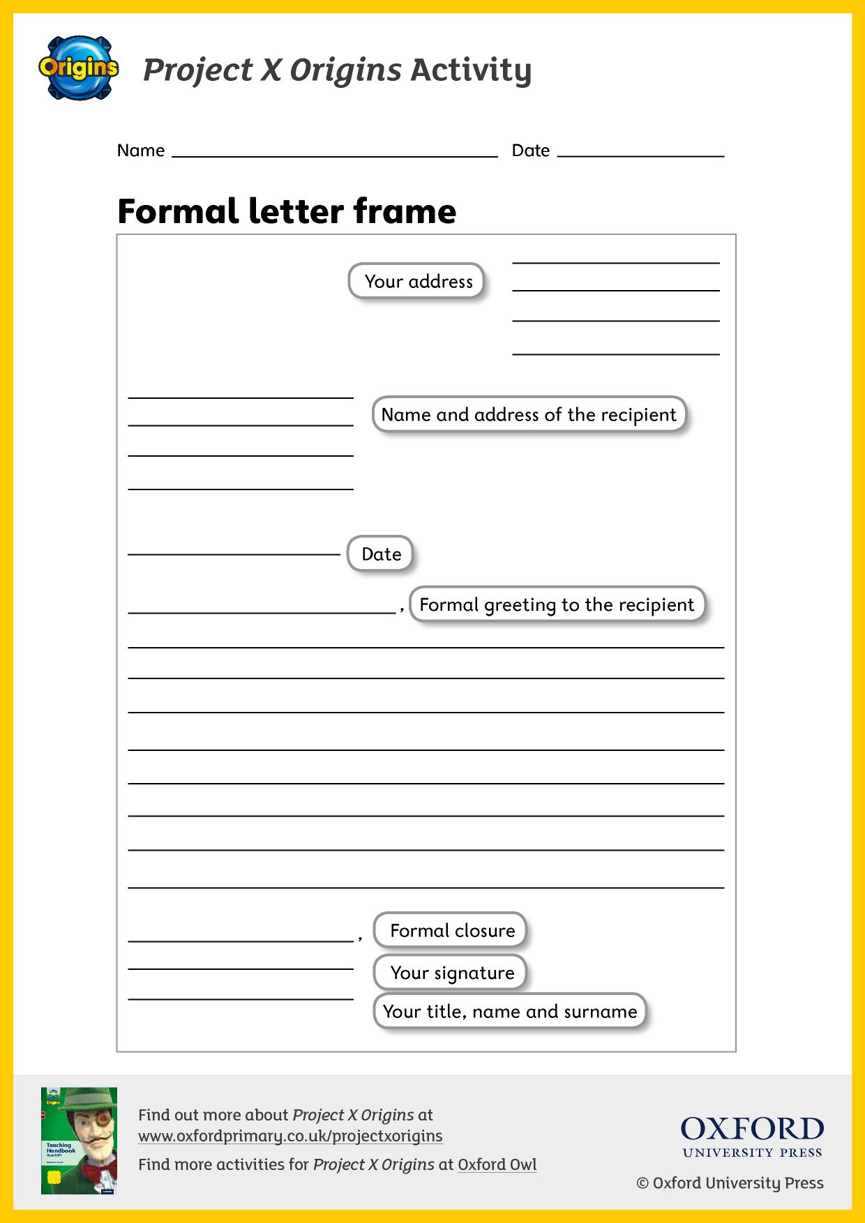 Eyfs Ks1 Ks2 Letter Writing Teachit Primary