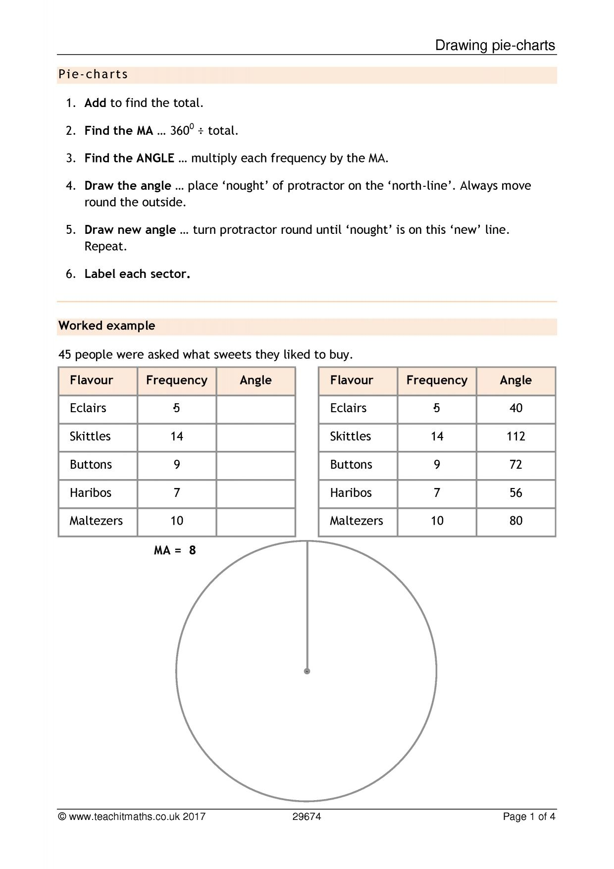 Ks3 graphs and charts pie charts teachit maths 1 preview nvjuhfo Images