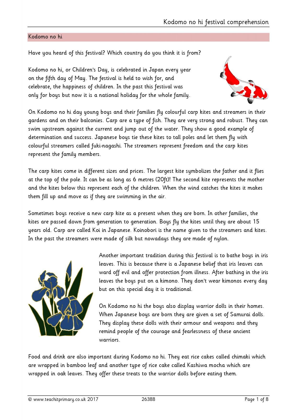 KS2 Reading Prehension Resources Teachit Primary