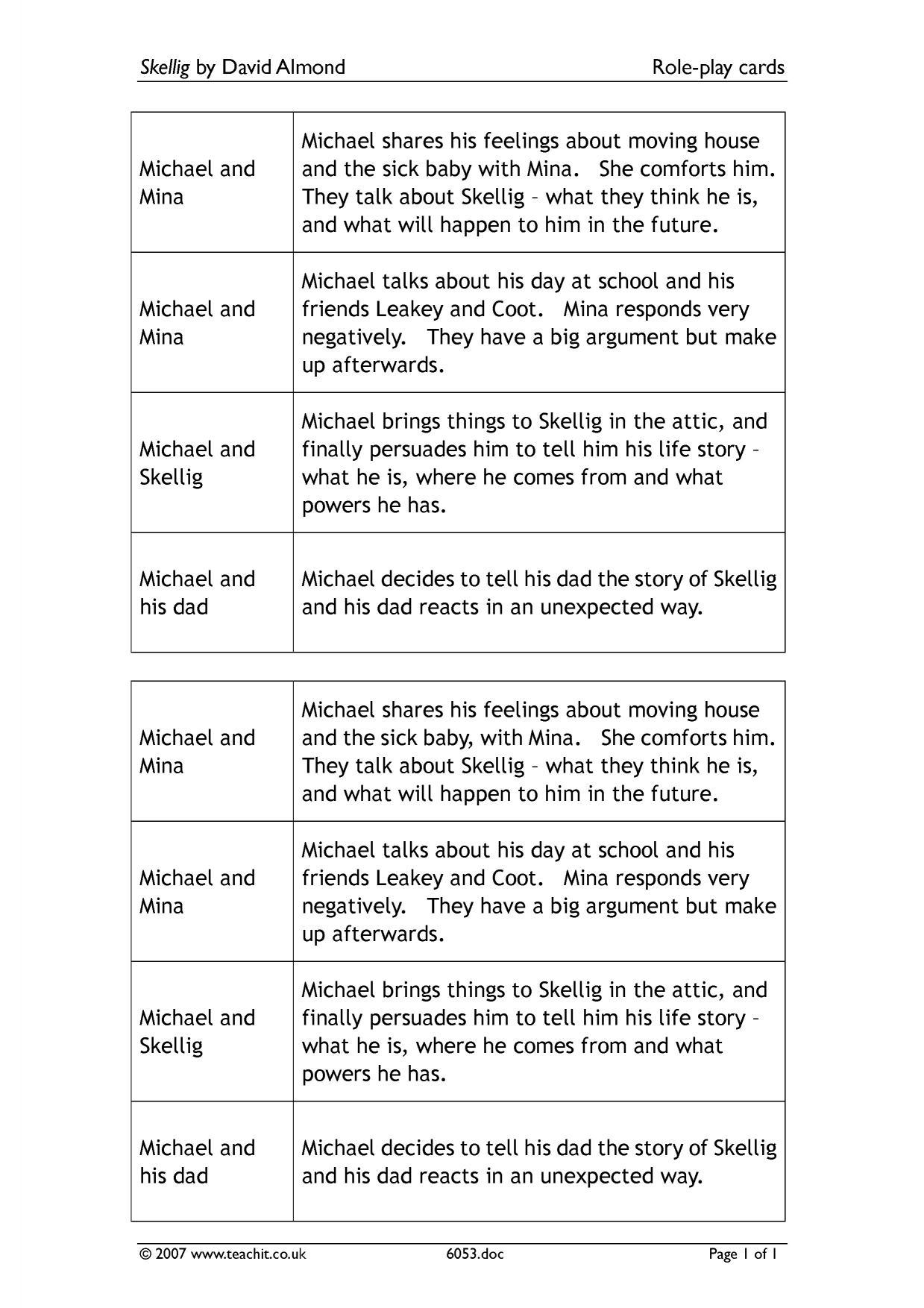 essay about skellig