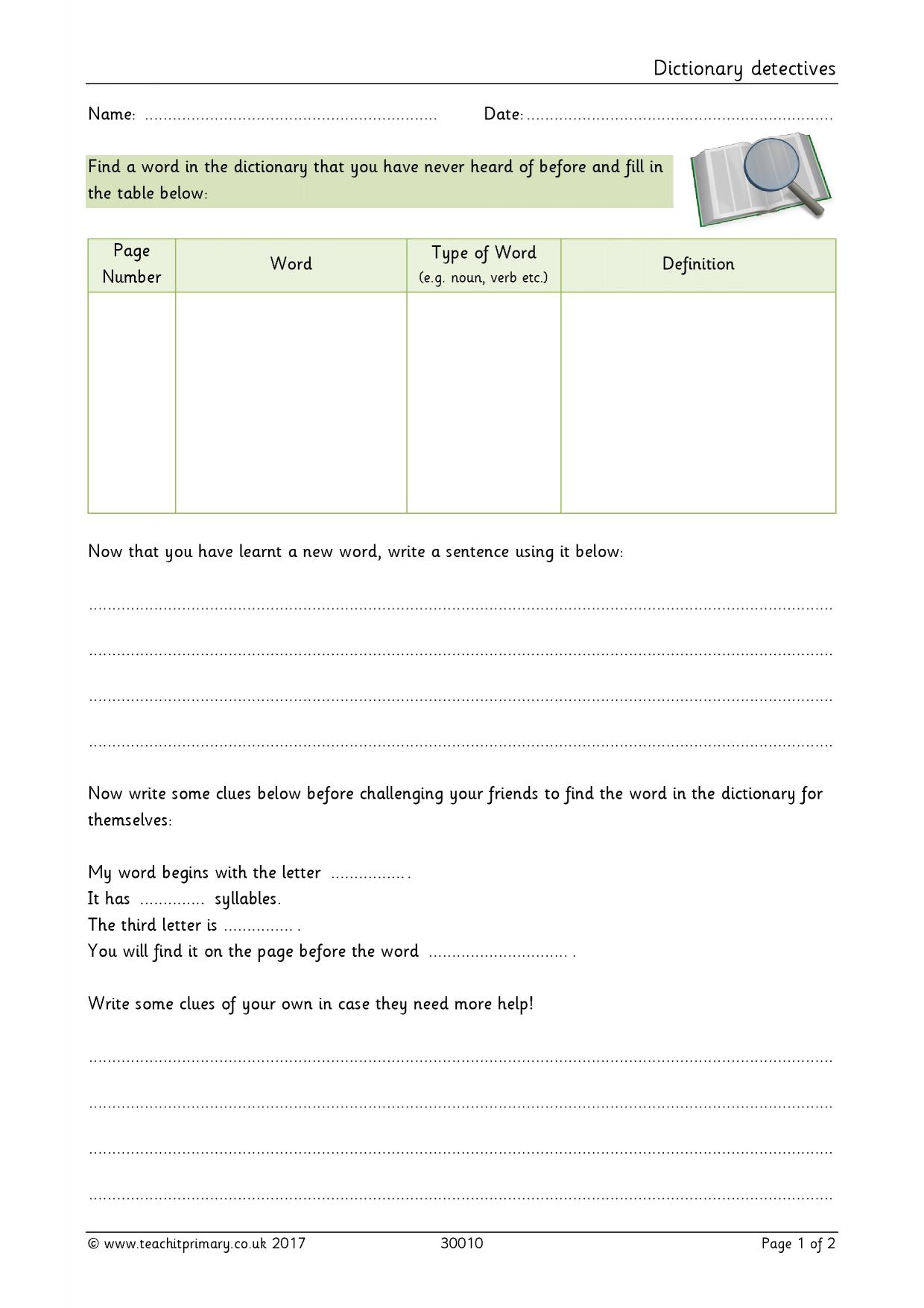 worksheet Dictionary Skills Worksheet reading comprehension teaching resources for fs ks1 and ks2 2 preview