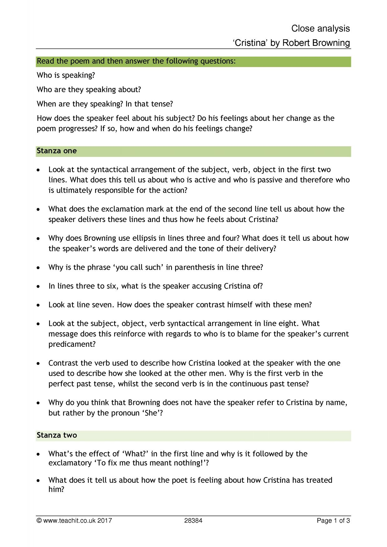 Features of cause and effect essay