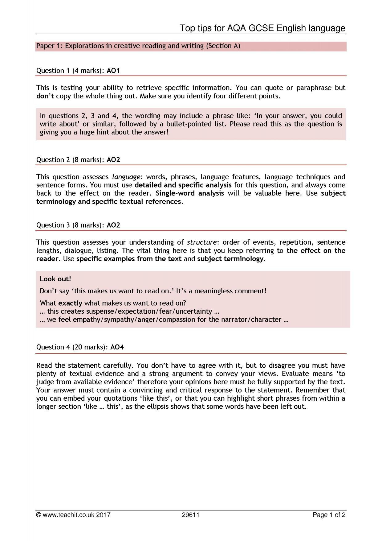 KS4 Reading | Critical reading | Teachit English