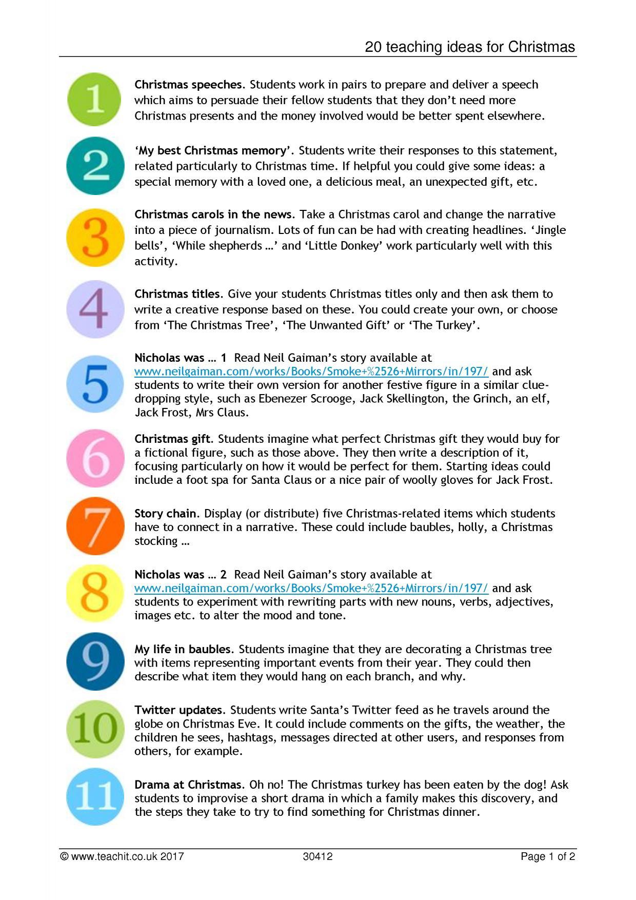 20 teaching ideas for christmas resource thumbnail