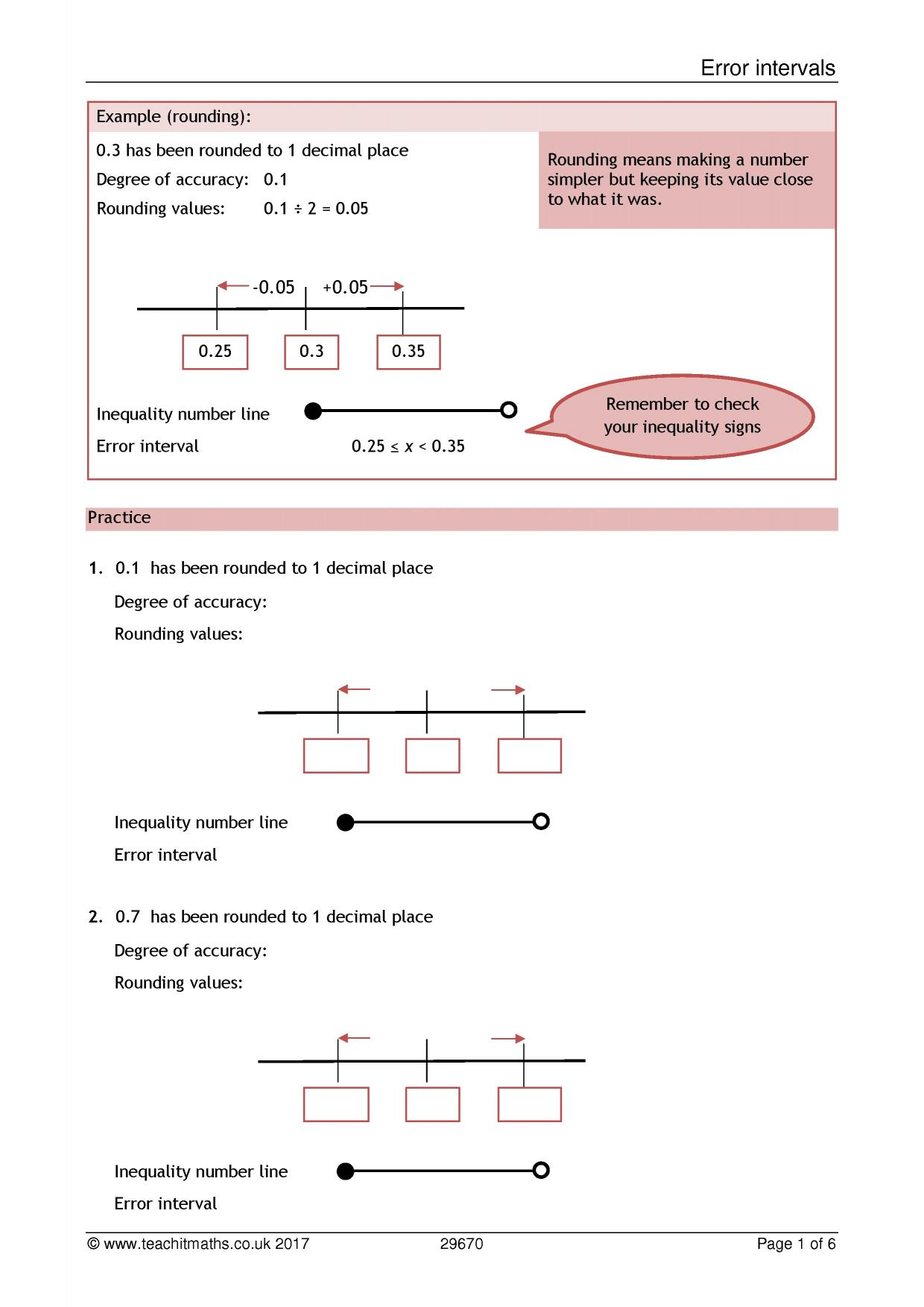 worksheet Rounding To 1 Decimal Place Worksheet rounding and estimating teachit maths 0 preview