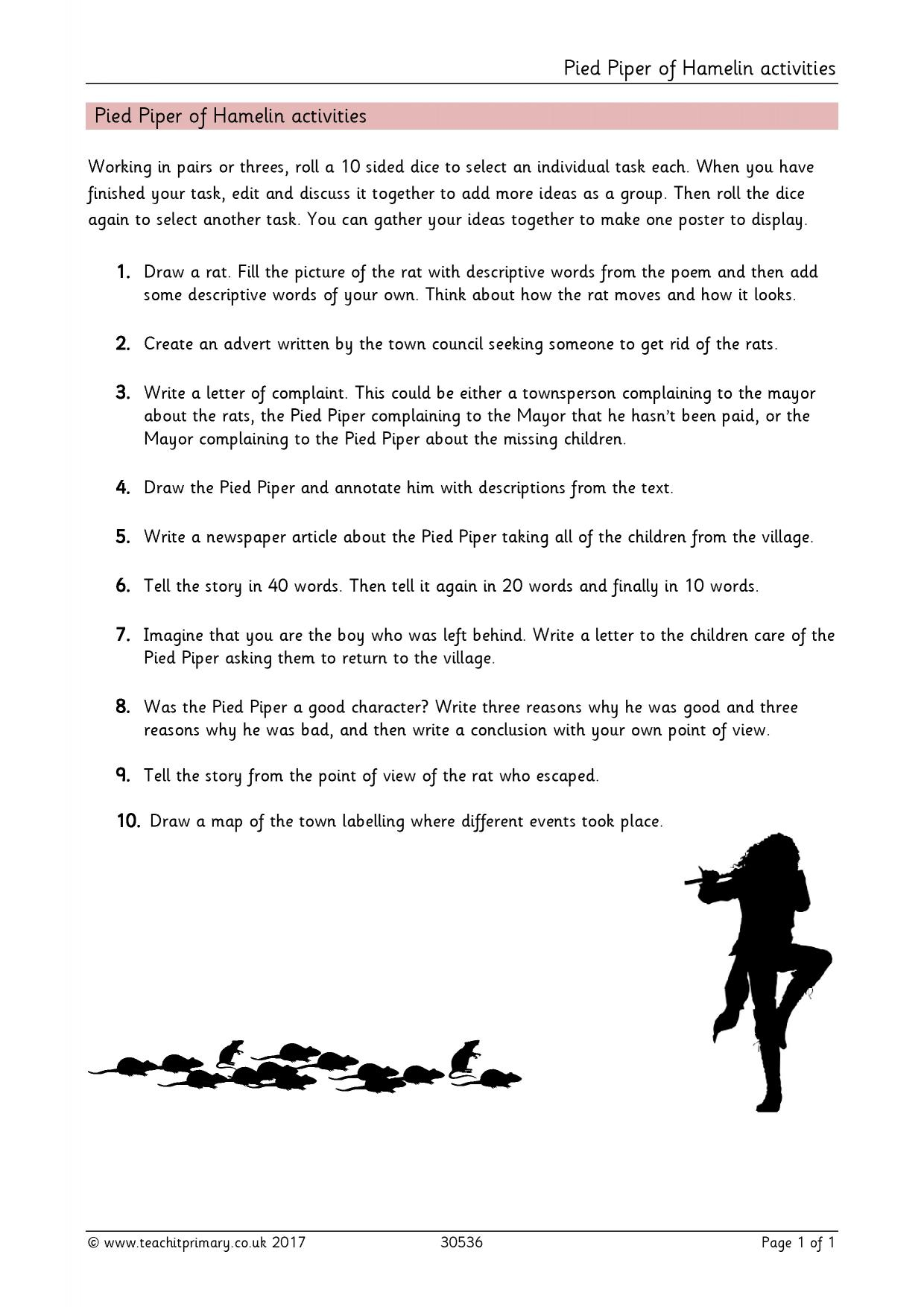 the pied piper of hamelin essay In this short essay we look at only two hypotheses about where the pied piper of hamelin could have gone.