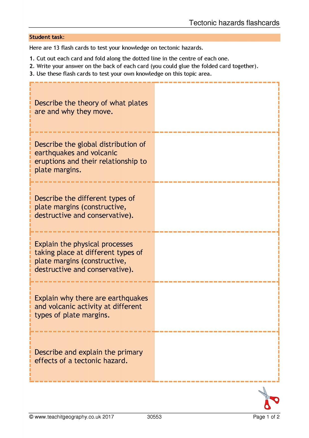 worksheet Earthquakes And Volcanoes Worksheet ks4 earthquakes teachit geography 2 preview