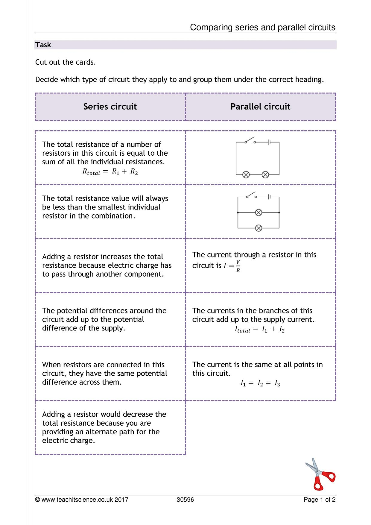Comparison Parallel Circuit Series Wiring Diagram And Ebooks Example Of Comparing Circuits Rh Teachitscience Co Uk Electrical