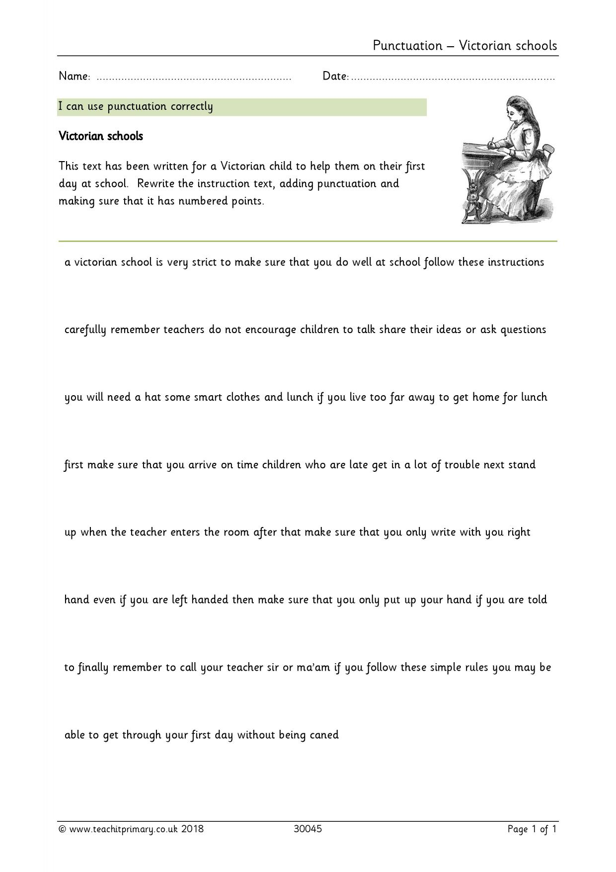 worksheet Semicolon Worksheet Ks2 eyfs ks1 ks2 basic punctuation teachit primary 1 preview