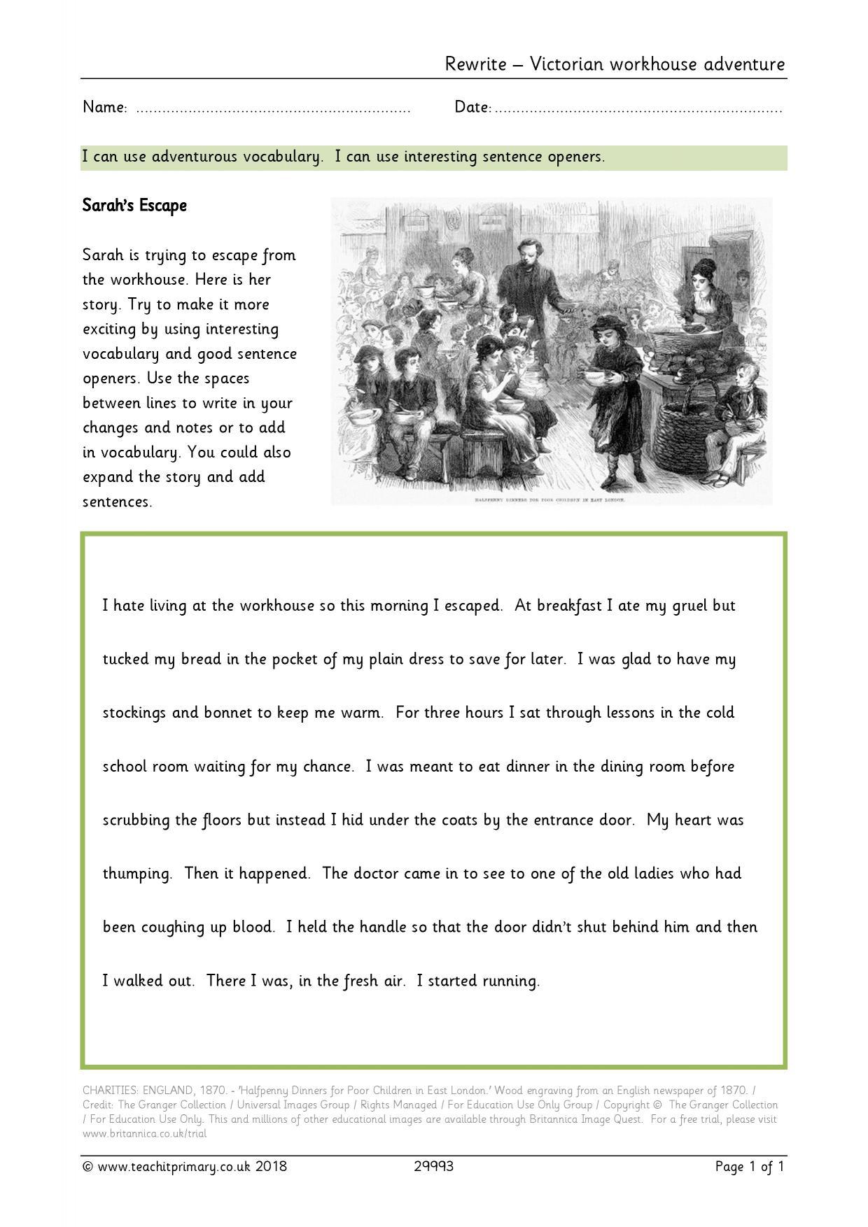 worksheet Ks2 Worksheets English eyfs ks1 ks2 character description teachit primary 1 preview