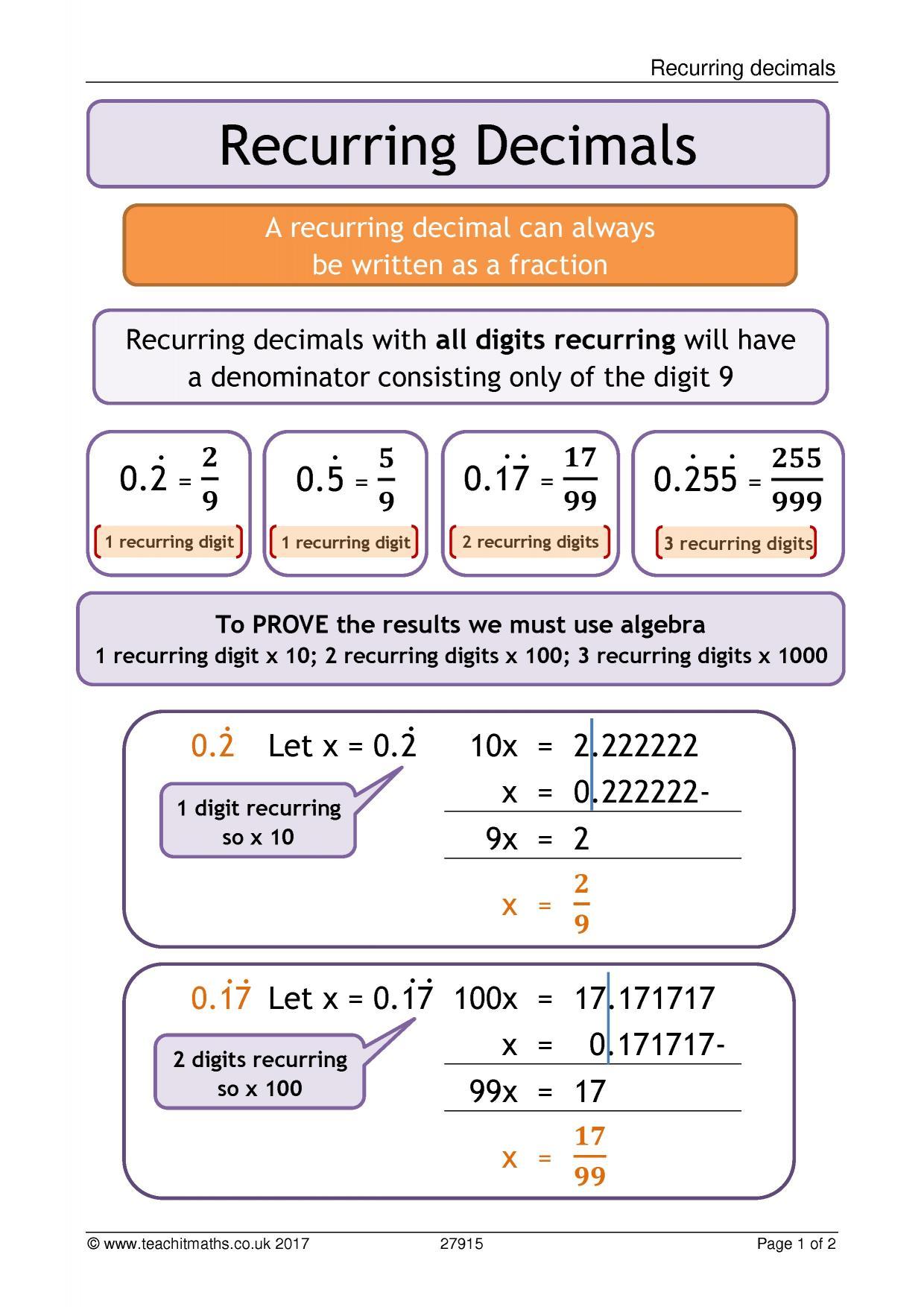 ks3 number | decimals | teachit maths