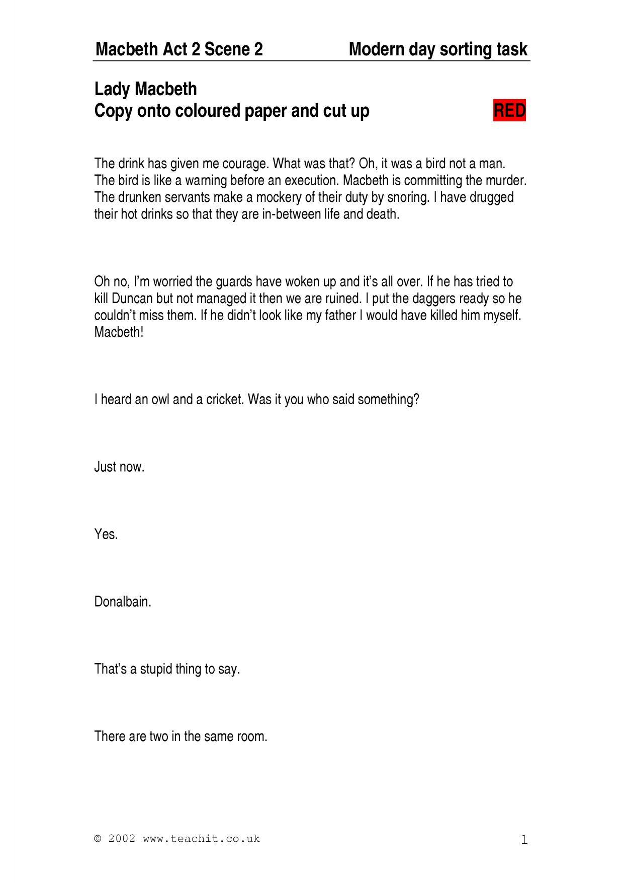 macbeth essay questions ks3