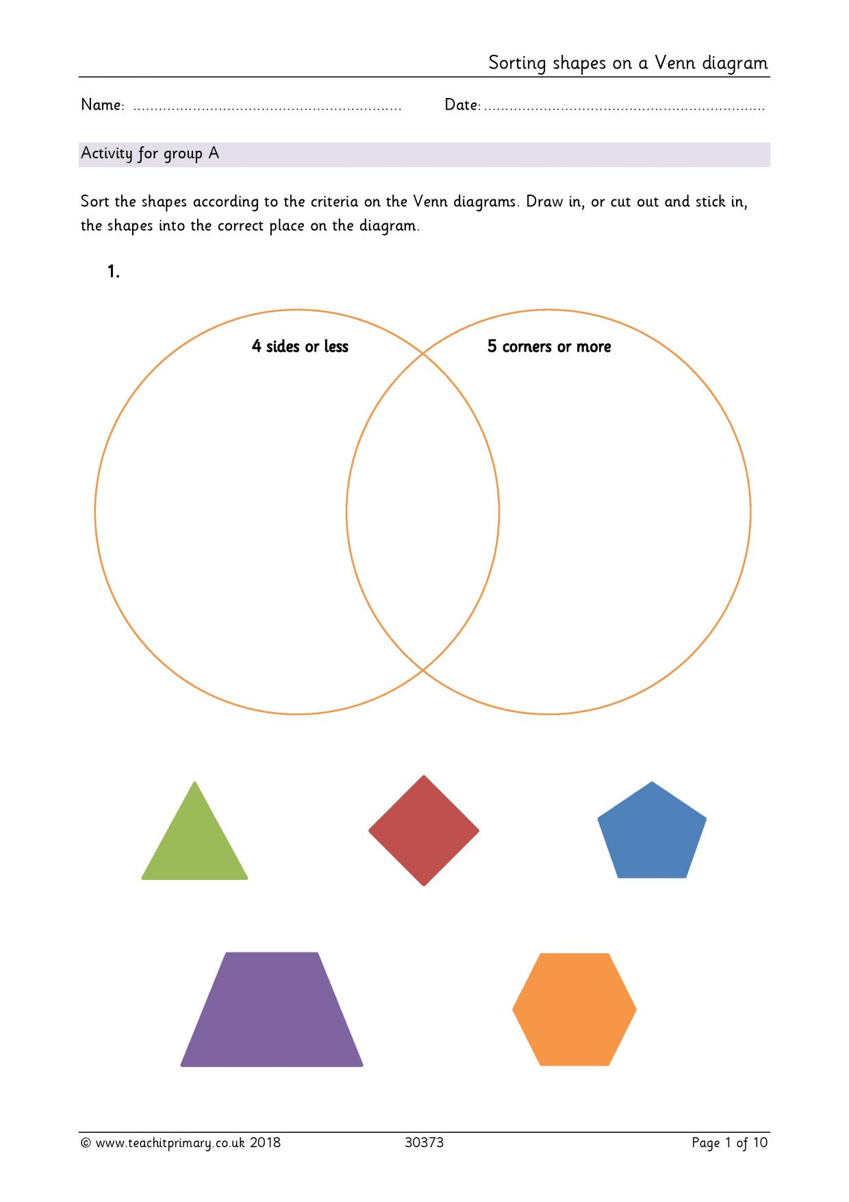 KS1 | Properties of shapes – recognizing, naming and describing