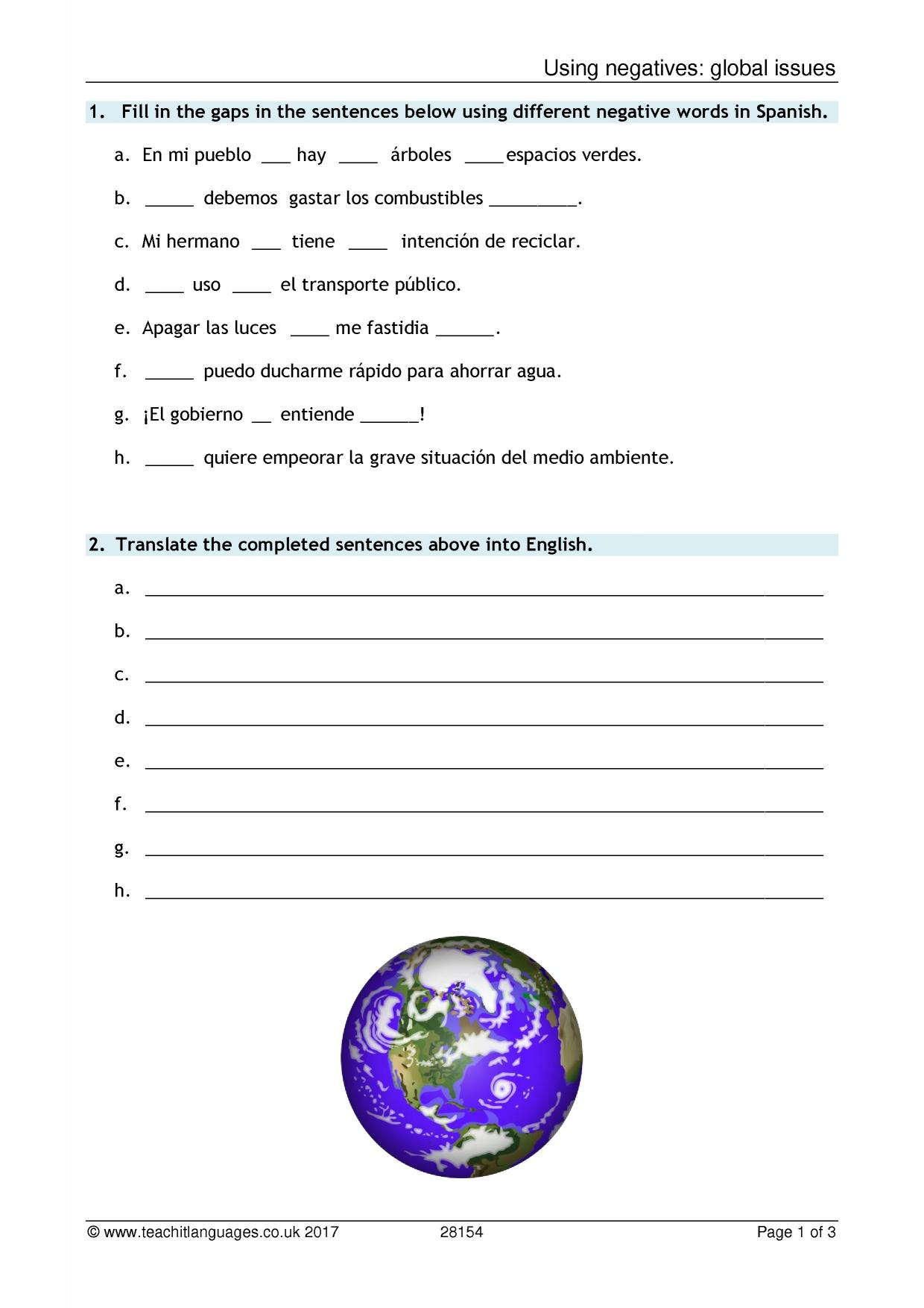 worksheet Cuantos Hay Worksheet spanish language teaching resources teachit languages 1 preview