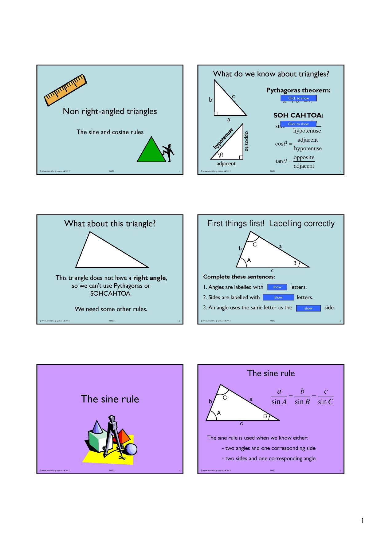 angles in a triangle - search results - Teachit Maths