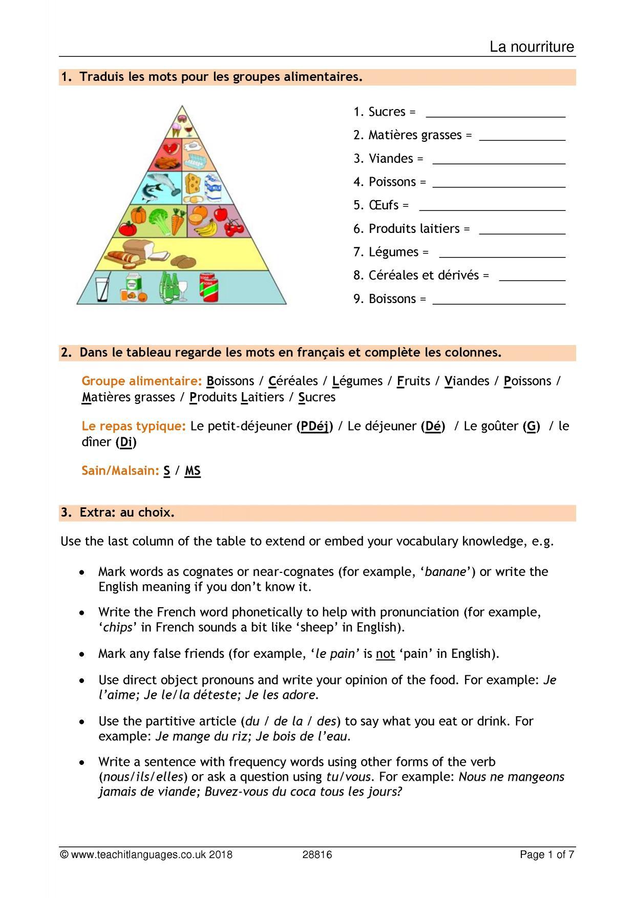 French Language Teaching Resources Teachit Languages Teachit