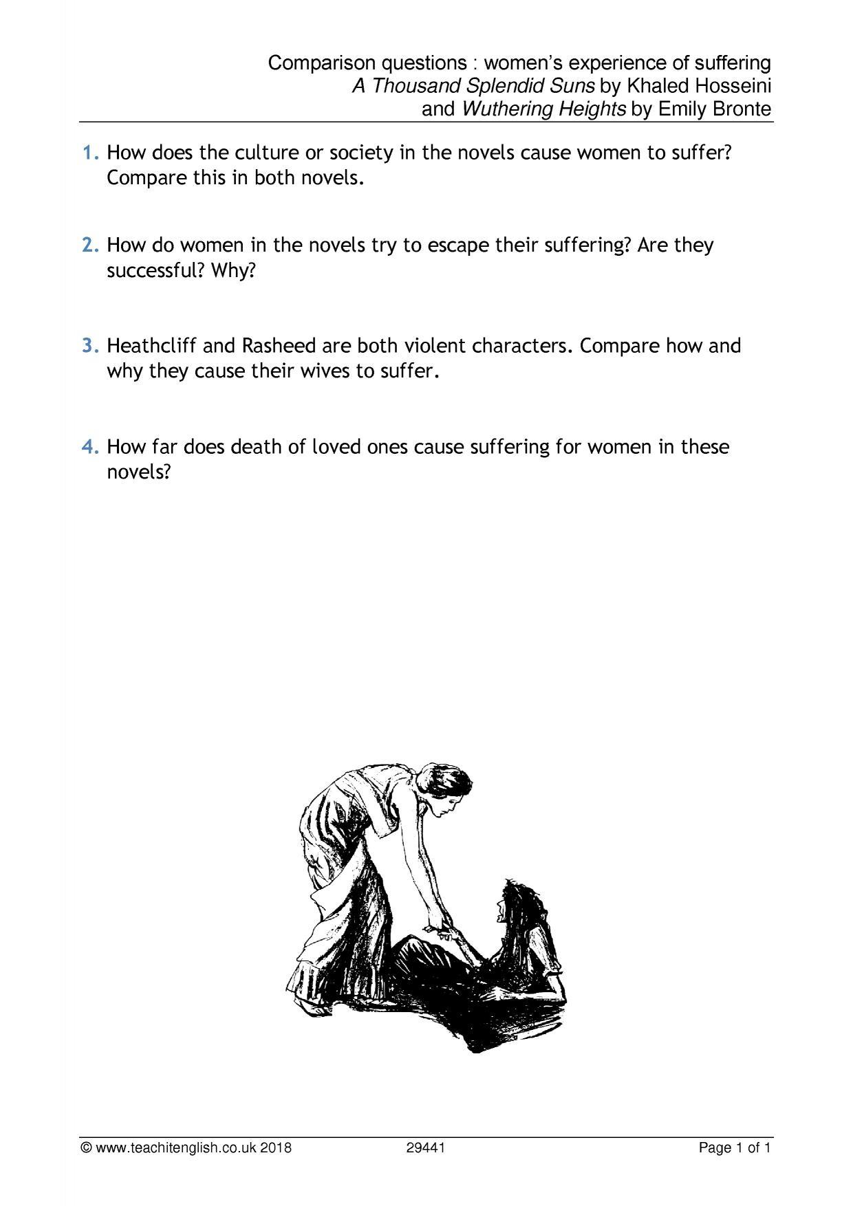 Comparison Questions Womens Suffering  Ap English Essays also High School Senior Essay  English Learning Essay